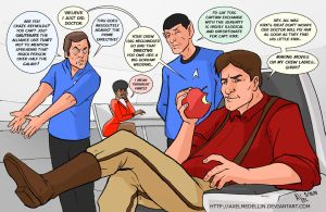 TLIID 155. Captain Reynolds running the Enterprise by AxelMedellin