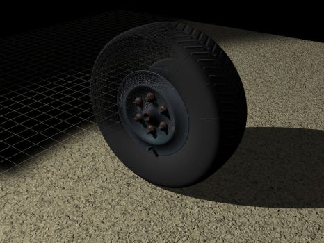 Tire and rust 3D test by MartinStg