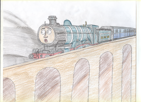 A Silver Streak Passes By by TrainsAndCartoons