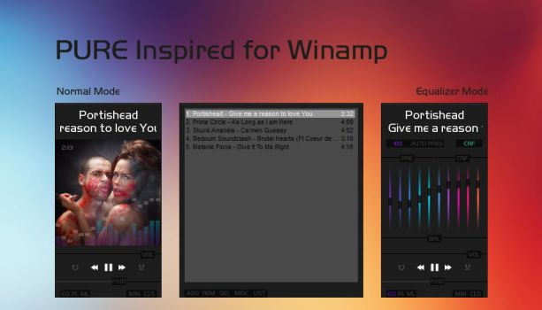 Pure Inspired for Winamp by Marisa85
