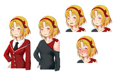 VN Sprite sample by PrincessMelow