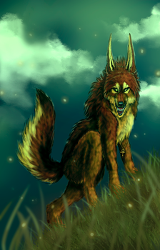 WereAnu by Radioactive-Insanity