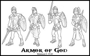 Armour of God Designs by Shazzbaa