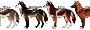 WoLF: Winter Opening Adoptables - CLOSED by DasChocolate