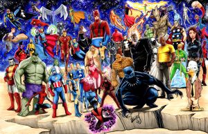 Marvel Heroes commission by Shawn-Langley