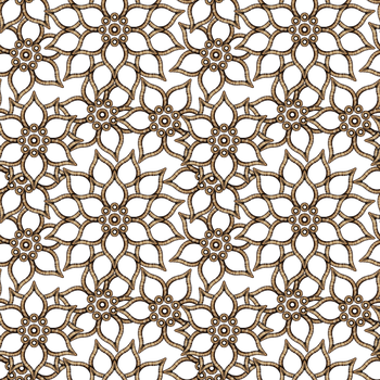 Floral Pattern GOLD by Yagellonica