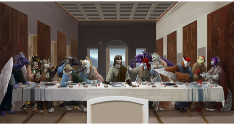 The Furry Last Supper by ALRadeck