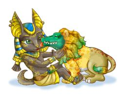 Baby Anubis ans Ammit by Fufunha