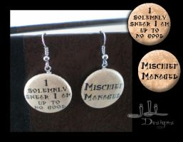 Marauder's Map earrings by eitanya