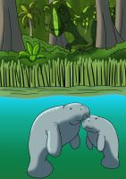 Manatees of Hell Creek by TyrannoNinja