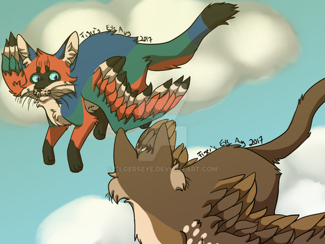 Windstorm and Falcon by Tigerpool