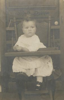 Vintage Baby c. 1913 by paintresseye
