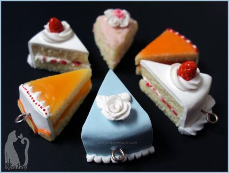 Polymer Clay Assorted Cakes by Talty