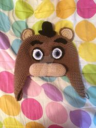 Freddy Fazbear Crochet Hat by YukisTwin1212