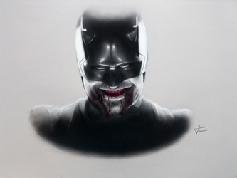 DAREDEVIL : Drawing - Charlie Cox by JakubQaazAdamski