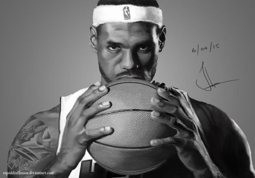 Lebron James Portrait by RapidDisillusion