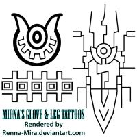 Midna's Leg and Arm/Sleeve Tattoos by Renna-Mira