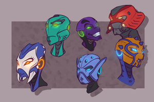 random mask practice by Just-a-drawing-Cat