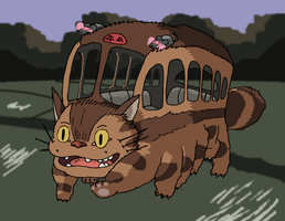 My Neighbor Totoro - Catbus by Juggernaut-Art