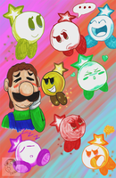 Starlow Sketchs and Green Mario Guy by DFKJR