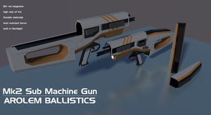 Arolem Mk2 Sub Machine Gun by Gwentari