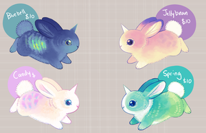 Easter Bunnicorns by sambragg