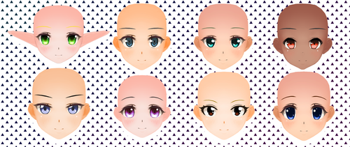 CM3D2 Faces Pack 3 and 4 by garbagegobble