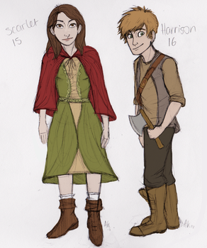 Scarlet and Harrison- Contest Entry by Deesney