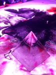 Crystal pyramid on watery landscape - free stock by dscript