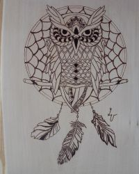 Owl pyrography by matcheslv