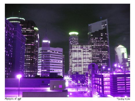 Minneapolis at night by cooper2k4