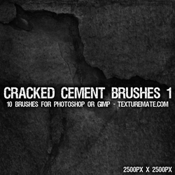 Cracked Cement 1 Brushes by AscendedArts
