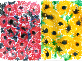 Sugar painting: Poppies by LoVeras