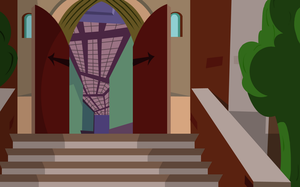 Monster High School Stairs Background by teddy-beard
