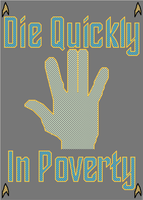 Die Quickly in Poverty Vulcan Salute Spoof by rhaben