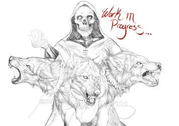 Reaper and Cerberus WIP by Daexmos