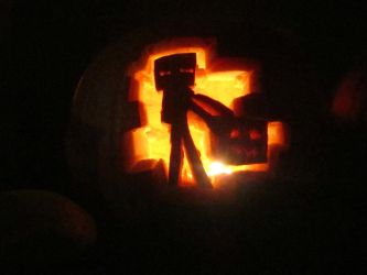 Enderman Pumpkin by Bactaboy