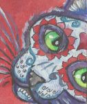 ACEO day of the dead cat 2 by jupiterjenny