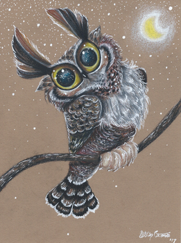 Great Horned Owl by Ducks-with-Crayons