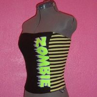 Zombie Corset Top by crafterbynite
