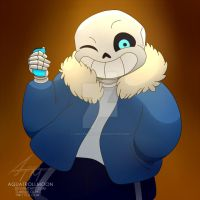 Sans ready to Switch by aquatrollmoon