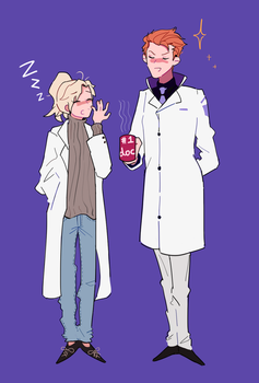 Tired doctor by BJMAKI