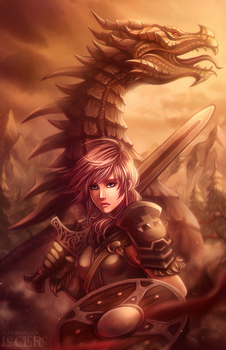 Lightning the Dovahkiin by Magochocobo
