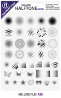 Square Halftone Brushes by rjDezigns