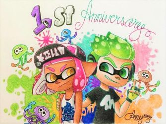 .:*Happy first anniversary Splatoon 2*:. by AmyRosers