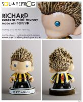 Richard-personalised munny by SquareFrogDesigns