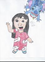 Commission- Lilo and Stitch by FreeingMyAngelWings