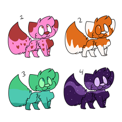 Some 10 Point Adopts (open) by The-Art-Lizard