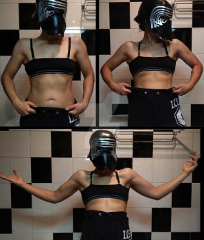Being stupid with my Kylo Ren helmet by Lady-Lumiya