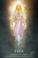 Space Goddess of Light by natebaertsch
